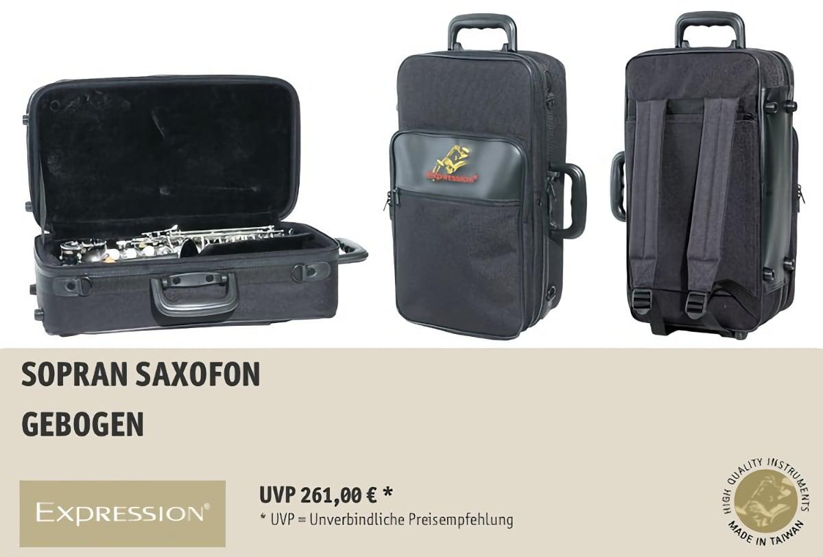 EXPRESSION Instruments Sopran Saxofone Gebogen